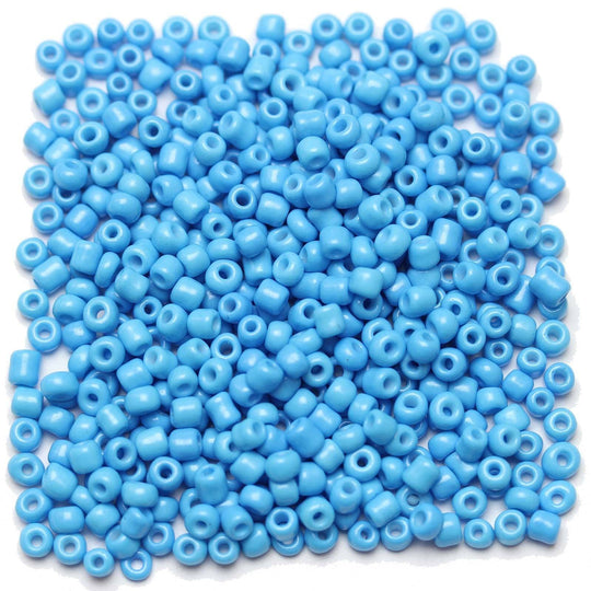 Light Blue Opaque Chinese 6/0 E beadsBeads by Halcraft Collection