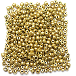 Light Gold Coated Chinese 6/0 E beads