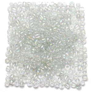 Crystal AB Chinese 6/0 E beadsBeads by Halcraft Collection