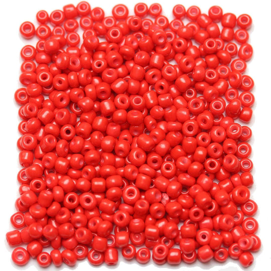 Light Red Opaque Chinese 6/0 E beadsBeads by Halcraft Collection