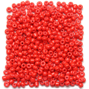 Light Red Opaque Chinese 6/0 E beads