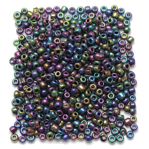 Multi AB Iris Coated Chinese 6/0 E beadsBeads by Halcraft Collection