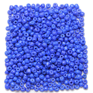 Blue Opaque Chinese 6/0 E beadsBeads by Halcraft Collection