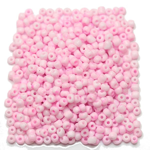 Light Pink Opaque Chinese 6/0 E beadsBeads by Halcraft Collection