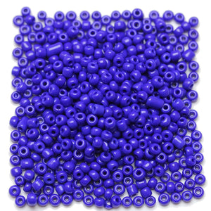 Dark Blue Opaque Chinese 6/0 E beadsBeads by Halcraft Collection