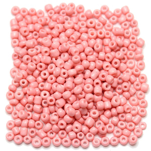 Pink Opaque Chinese 6/0 E beadsBeads by Halcraft Collection