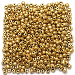 Bead, Beads, Chinese, Chinese Seed Bead, Chinese Seed Beads, Glass, Glass Bead, Glass Beads, Round, Round Bead, Round Beads, Seed Bead, Seed Beads, Seed Chinese Bead, Seed Chinese Beads, 6/0, Coated, Gold, 3x4mm, 3mm, 4mm
