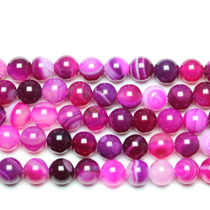 Purple Dyed Agate Round 8mm