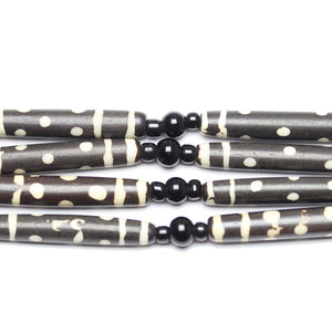 Bead, Beads, Bone, Bone Beads, Bone Bead, Brown, Tube Bead, Tube Beads, Tube, Made in India, Batik, Dyed, Dyed Bead, 6x37mm, 6mm, 37mm