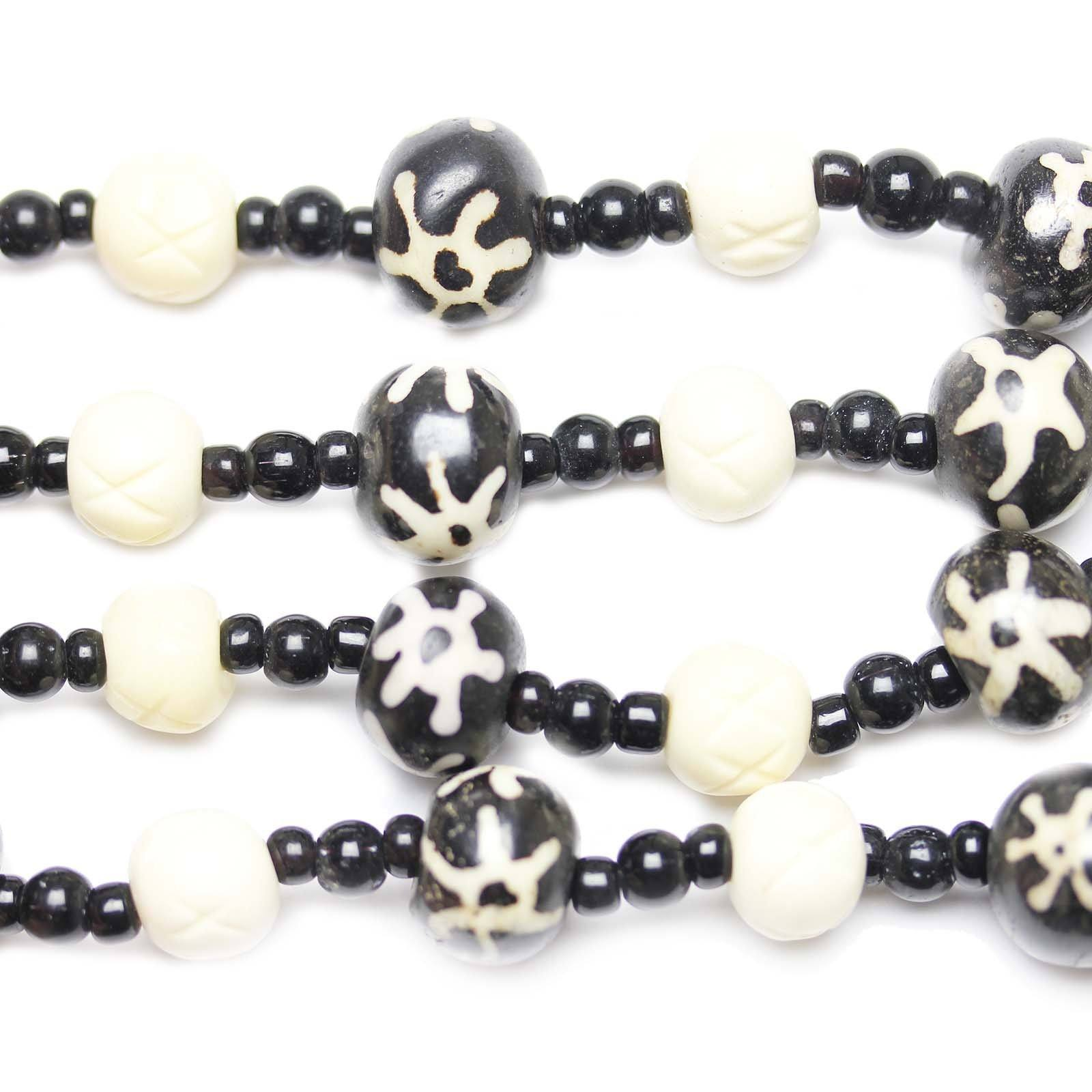 Dyed Carved Bone Beads Rondell Mixed Size 8x10mm 10x14mm 3 99