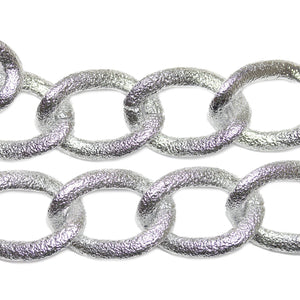 Silver Tone Plated Metal Chain 21mm  WideChain by Bead Gallery