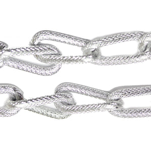 Silver Tone Plated Metal Chain 13mm  WideChain by Bead Gallery