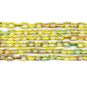 Chain, Chains, Metal, Metal Chain, Painted, Painted Chain, Yellow, Yellow Chain, 24in, 24 inches, 4.4mm, 4mm, 5mm, Link Chain