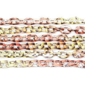 Chain, Chains, Metal, Metal Chain, Painted, Painted Chain, Brown, Tan, Brown Chain, Tan Chain, 24in, 24 inches, 6mm, Link Chain