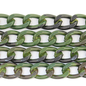 Camm o Painted Metal Chain 9mm  WideChain by Halcraft Collection