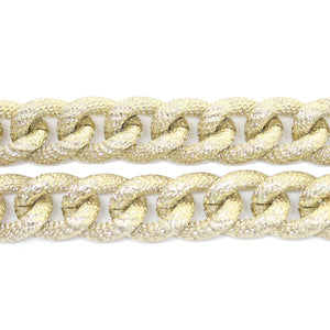 Chain, Chains, Metal, Metal Chain, Gold Tone Plated, Gold Tone Plated Chain, Gold, Gold Chain, 18in, 18 inches, 13mm, Link Chain