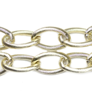 Gold Tone Plated Metal Chain 18.5mm  WideChain by Bead Gallery