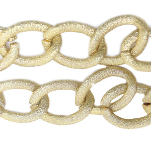 Chain, Chains, Metal, Metal Chain, Gold Tone Plated, Gold Tone Plated Chain, Gold, Gold Chain, 18in, 18 inches, 21mm, Link Chain