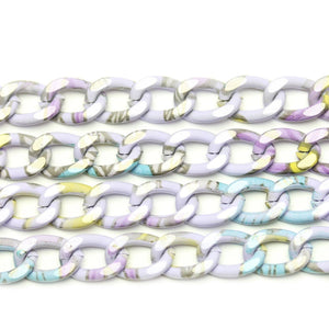 Chain, Chains, Metal, Metal Chain, Painted, Painted Chain, Multi, Multi Chain, 18in, 18 inches, 9mm, Link Chain