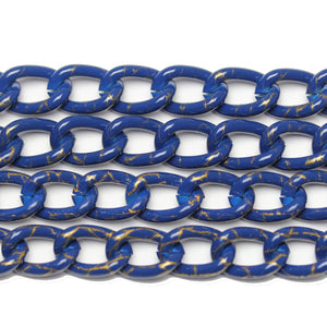 Chain, Chains, Metal, Metal Chain, Painted, Painted Chain, Blue, Blue Chain, 18in, 18 inches, 9mm, Link Chain