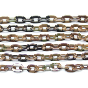 Chain, Chains, Metal, Metal Chain, Painted, Painted Chain, Brown, Brown Chain, 24in, 24 inches, 4.7mm, 4mm, 5mm, Link Chain