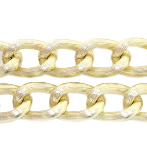 Gold Tone Plated Metal Chain 18mm  WideChain by Bead Gallery