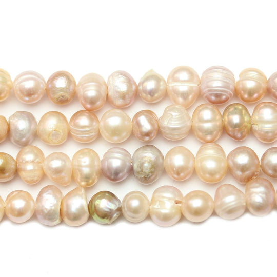 Rose Dyed Fresh Water Pearls Potato (Hole Through Width) Sizes Vary