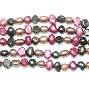 Multi Dyed Fresh Water Pearls Sizes Vary