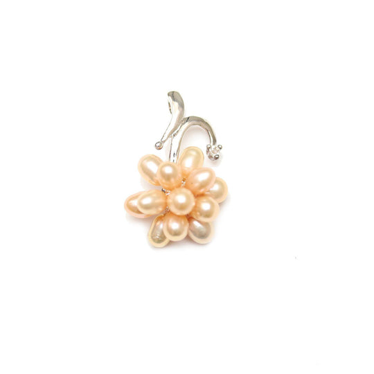 Rose Dyed Fresh Water Pearl Pendant with MetalPendant by Halcraft Collection