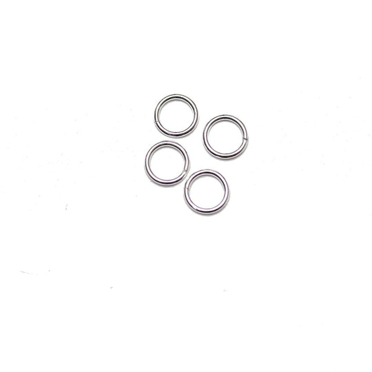 .925 Silver Perfect Jump Ring Heavy Weight Wire 8mm  RoundFindings by Bead Gallery