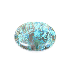 Natural Azurite Stone Flat-Back Cabochon Approx 30x40mm Beads by Halcraft Collection