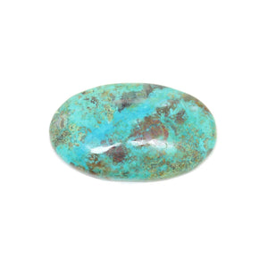 Natural Chrysocolla Flat-Back Cabochon Approx 25x40mm