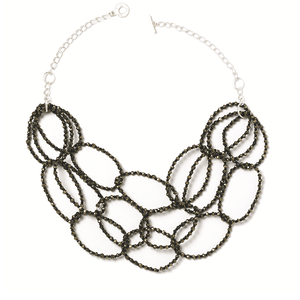 Pyrite Loop NecklaceJewelry by Halcraft Collection