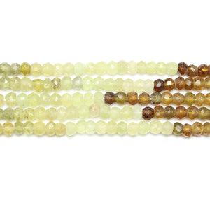 Precious Gemstone Grossularite Garnet Faceted RondellsBeads by Halcraft Collection