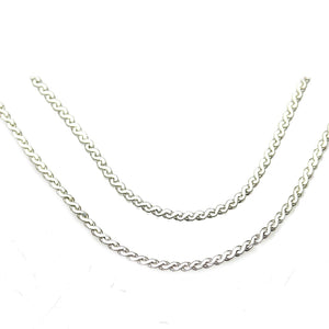 Chain, Chains, Metal, Metal Chain, Silver Plated, Silver Plated Chain, Silver, Silver Chain, 24in, 24 inches, 1.2mm, 1mm, Flat Chain