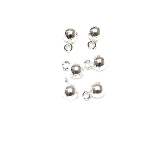 .925 Silver Smooth Round Dangle Ball 5mm
