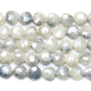 Faceted Natural Moonstone with Luster Teardrop 8x9mm Beads by Halcraft Collection