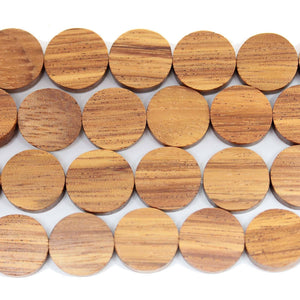 Philippine Light Brown Robles Wood Lentil Beads 4.5x14mm  Approx.