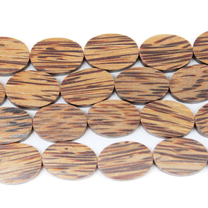 Philippine Wood Oval Beads 12.5x18mm Approx.Beads by Halcraft Collection