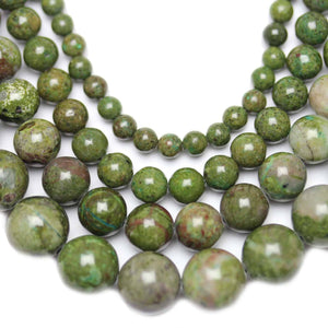 Multi-pack - Dragon Blood Jasper Round Stone Beads (sizes 4mm , 6mm , 8mm , 10mm )