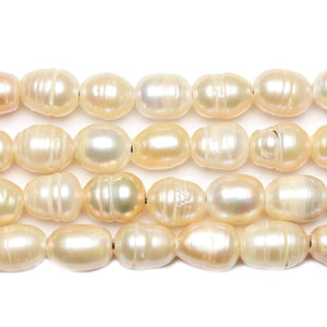Natural Pink Fresh Water Pearls Large Hole (2.3mm ) Medium Large Oval