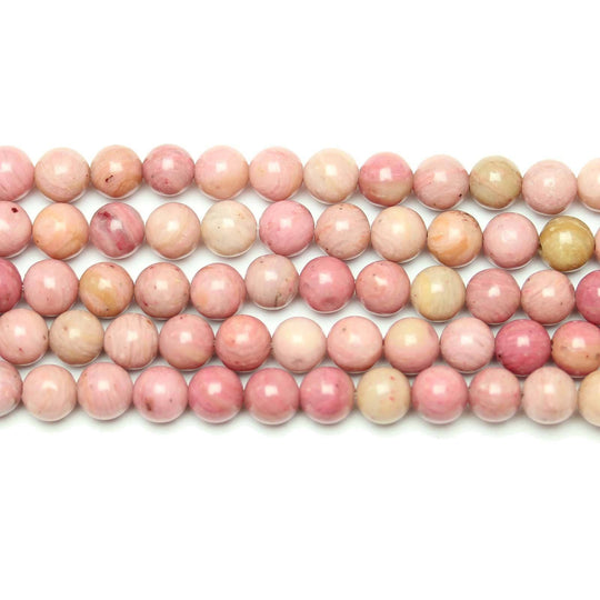 Natural Rhodonite Stone Polished 6mm  Round BeadsBeads by Halcraft Collection