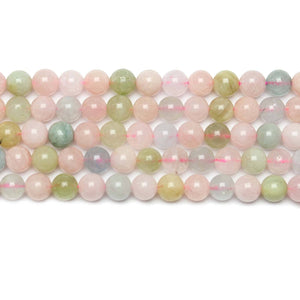 Natural Morganite Polished 6mm  Round BeadsBeads by Halcraft Collection