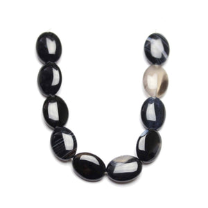Dyed Stone Black Agate Polished 15x20mm Oval BeadsBeads by Halcraft Collection