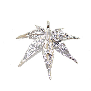Natural Leaf Preserved Silver Plated PendantPendant by Halcraft Collection