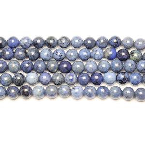 Natural Dumortierite Polished 6mm  Round Beads