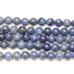 Natural Dumortierite Polished 8mm  Round Beads
