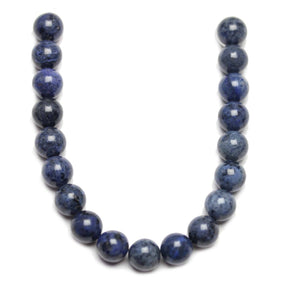 Natural Dumortierite Polished 10mm  Round Beads
