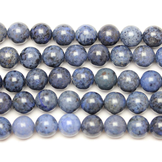 Natural Dumortierite Polished 10mm  Round BeadsBeads by Halcraft Collection