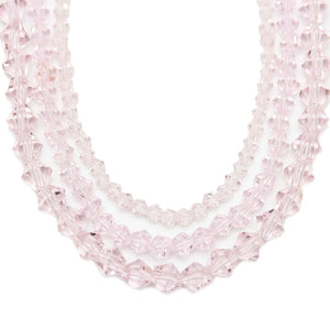 Multi-pack - Glass Beads Pink Bicone (sizes 3mm , 4mm , 6mm )